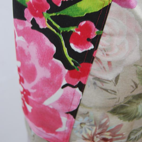 tablier en tissu épais à motifs floraux colorés